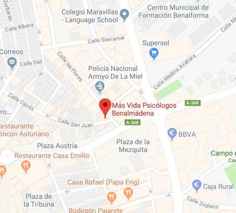 Más Vida Psicólogos Benalmádena en Calle San Juan Nº29, 2ºA